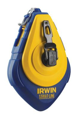 IRWIN STRAIT-LINE Speed-Line Chalk Reels, 100 in, 1.5 oz, Assorted Chalk, Blister Pack