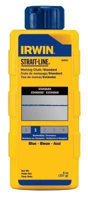 IRWIN STRAIT-LINE Standard Marking Chalks, 8 oz, Blue