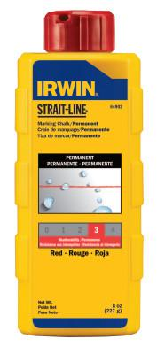 IRWIN STRAIT-LINE Permanent Staining Marking Chalks, 8 oz, Permanent Red