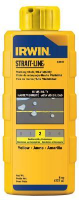 IRWIN STRAIT-LINE Hi-Visibility Marking Chalks, 8 oz, Hi Vis Yellow