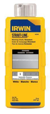IRWIN STRAIT-LINE Standard Marking Chalks, 8 oz, White