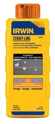 IRWIN STRAIT-LINE Hi-Visibility Marking Chalks, 8 oz, Hi Vis Orange