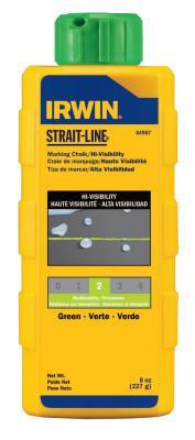 IRWIN STRAIT-LINE Hi-Visibility Marking Chalks, 8 oz, Hi Vis Green