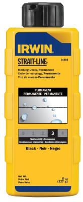IRWIN STRAIT-LINE Permanent Staining Marking Chalks, 8 oz, Permanent Black