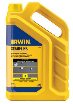 IRWIN STRAIT-LINE Hi-Visibility Marking Chalks, 5 lb, Hi Vis Yellow