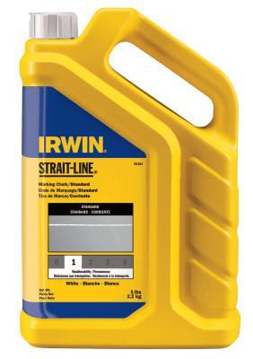 IRWIN STRAIT-LINE Standard Marking Chalks, 5 lb, White