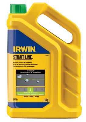 IRWIN STRAIT-LINE Hi-Visibility Marking Chalks, 5 lb, Hi Vis Green
