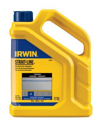 IRWIN STRAIT-LINE Standard Marking Chalks, 2 1/2 lb, Blue