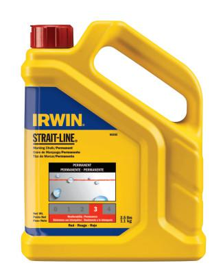 IRWIN STRAIT-LINE Permanent Staining Marking Chalks, 2 1/2 lb, Permanent Red