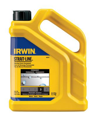 IRWIN STRAIT-LINE Permanent Staining Marking Chalks, 2 1/2 lb, Permanent Black