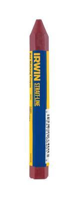 IRWIN STRAIT-LINE Lumber Crayons, 4 1/2 in, Red, Bulk
