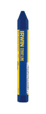 IRWIN STRAIT-LINE Lumber Crayons, 4 1/2 in, Blue, Bulk