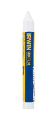 IRWIN STRAIT-LINE Lumber Crayons, 4 1/2 in, White, Bulk