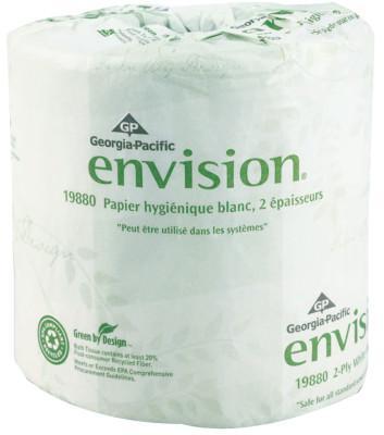 GEORGIA PACIFIC Envision Bathroom Tissue, 4.05 in x 4 in, 185.625 ft