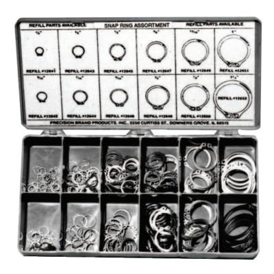PRECISION BRAND Snap Ring Assortments, Spring Steel