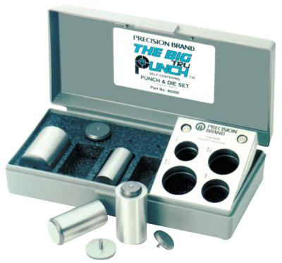 PRECISION BRAND TruPunch Punch & Die Sets, English, Plastic Case, 4 Die, 4 Punches
