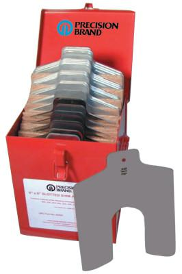 "PRECISION BRAND Slotted Shim Assortment Kits, 6 X 6 in, .001-1/8"" Thick"