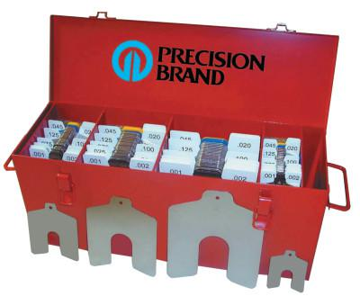 "PRECISION BRAND Slotted Shim Assortment Kits, .0010-1/8"" Thick, Master Asst"
