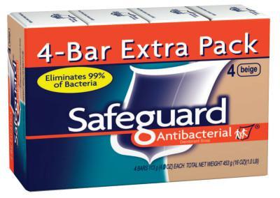 PROCTER & GAMBLE (PACK/4) SAFEGUARD BATH BAR 4 OZ
