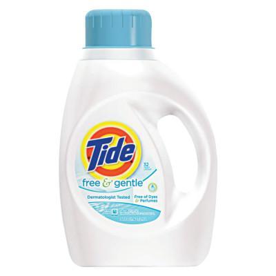 PROCTER & GAMBLE Tide Free & Gentle Laundry Detergent, 50 oz Bottle, 32 Loads