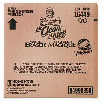 "PROCTER & GAMBLE Mr. Clean Magic Eraser Extra Power, 4 3/5"" x 2 2/5"", White"