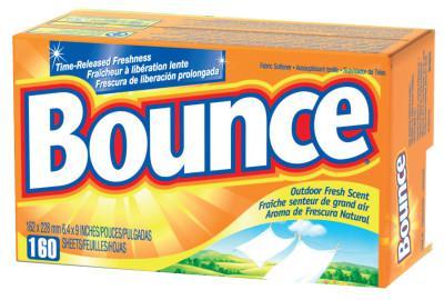 PROCTER & GAMBLE Bounce Fabric Softener Sheets, Outdoor Fresh