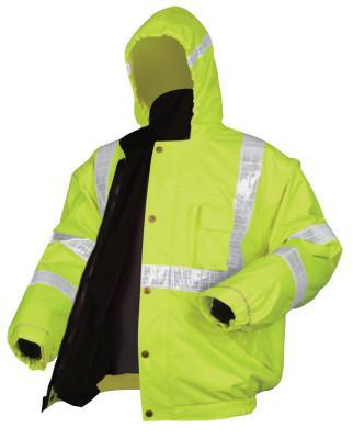 RIVER CITY Luminator Bomber Plus Jackets, X-Large, Fluorescent Lime