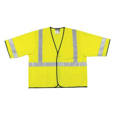 RIVER CITY VCL3SL Luminator Safety Vests, X-Large, Fluorescent Lime