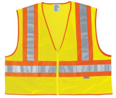 RIVER CITY Luminator Class II Safety Vests, Large, Lime