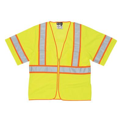 RIVER CITY WCCL3L Luminator Safety Vests, 2X-Large, Fluorescent Lime