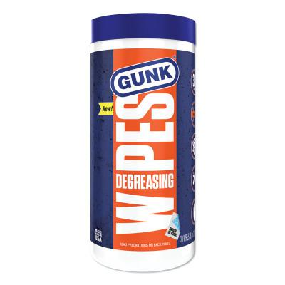 GUNK Degreasing wipes, blue 8x12, 30 per container