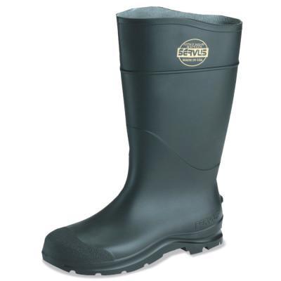 SERVUS CT Economy Knee Boots, Steel Toe, Size 13, 16 in H, PVC, Black
