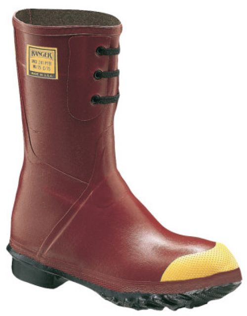 Insulated Steel Toe Boots, Size 9, 12 in H, Rubber, Red