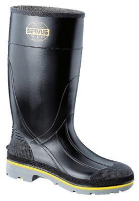 SERVUS XTP Knee Boots, Size 5, 15 in H, PVC, Black/Yellow/Gray