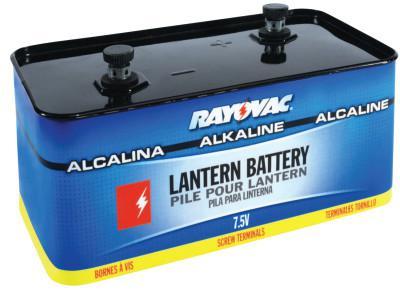 RAYOVAC Lantern Batteries, Industrial Alkaline, 7.5 V