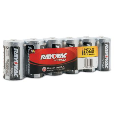 RAYOVAC Maximum Alkaline Shrink Pack Batteries, 1.5 V, D