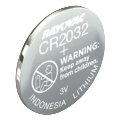 RAYOVAC Keyless Entry Batteries, Lithium, CR2032, 3.0 V