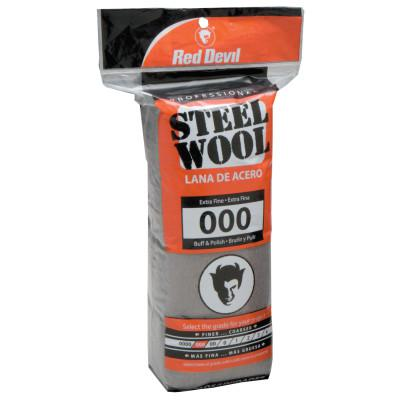 RED DEVIL Steel Wool, Extra Fine, #000