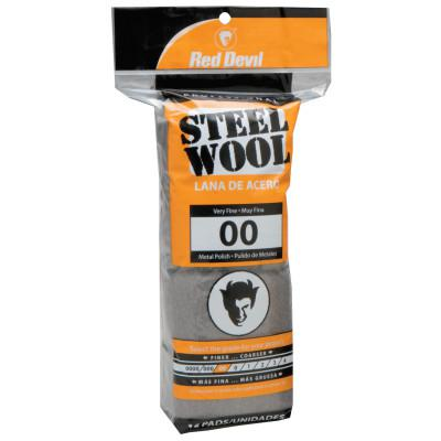 RED DEVIL Steel Wool, Very Fine, #00