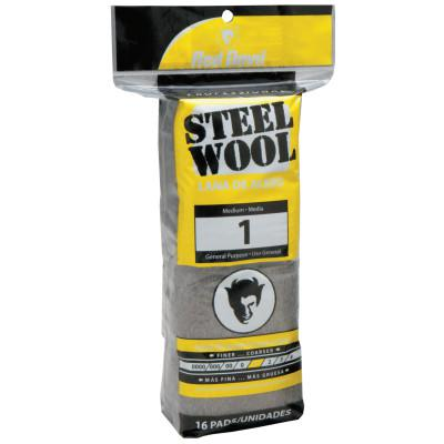 RED DEVIL Steel Wool, Medium, #1