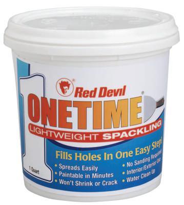 RED DEVIL ONETIME Lightweight Spackling, 1 Gallon Tub, Bright White