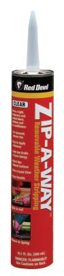 RED DEVIL Zip-A-Way Removable Sealant, 10/1 oz Cartridge, Clear