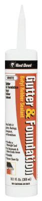 RED DEVIL Gutter & Foundation Sealants, 10.1 oz Cartridge, White