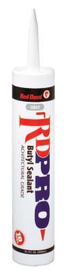 RED DEVIL RD PRO Butyl Architectural Grade Sealants, 10.1 oz Cartridge, Gray