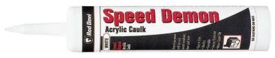 RED DEVIL Speed Demon Acrylic Caulk, 10.1 oz Cartridge, White