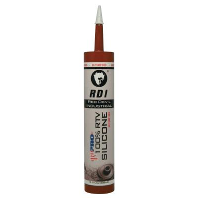 RED DEVIL RD PRO Heat Resistant RTV Sealant, 10.1 oz Cartridge, Red