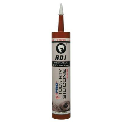 RED DEVIL RD PRO® Heat Resistant RTV Sealant, 10.1 oz Cartridge, Red