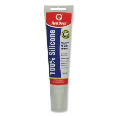 RED DEVIL RD PRO® Industrial Grade RTV Sealant, 2.8 oz Tube, White