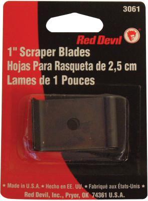 "RED DEVIL Single Edge Scraper Blade; 1"" Blade Fits 3010 Wood/Paint Scraper (Card of 2 EA)"