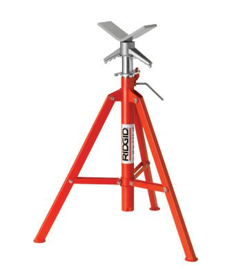RIDGID VJ-99 V-Head High Pipe Stand, 28 in to 52 in High